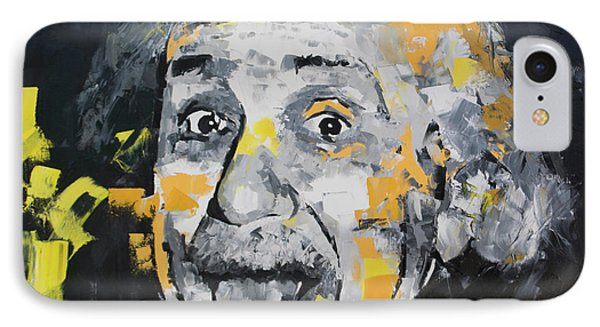 IPhone Case featuring the painting Albert Einstein by Richard Day