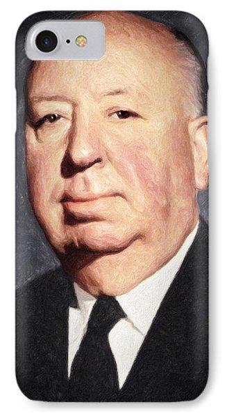 Alfred Hitchcock IPhone 7 Case by Taylan Apukovska
