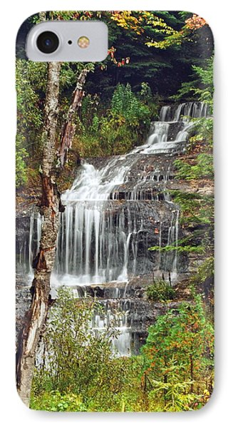 Alger Falls Phone Case by Michael Peychich
