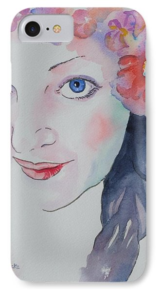 IPhone Case featuring the painting Alisha by Mary Haley-Rocks
