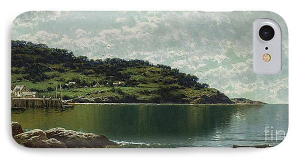 Along The Maine Coast IPhone Case by Alfred Thompson Bricher