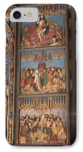 Altarpiece By Wit Stwosz In St. Mary's Basilica IPhone Case by Artur Bogacki