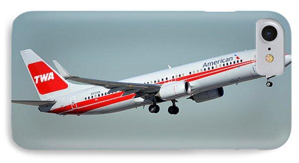 American Boeing 737-823 N915nn Phoenix Sky Harbor January 11 2015 Phone Case by Brian Lockett
