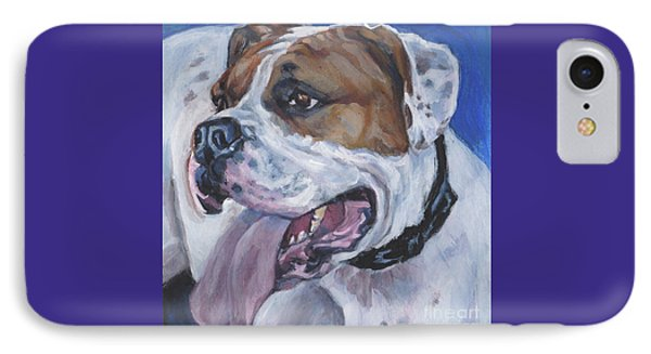 IPhone Case featuring the painting American Bulldog by Lee Ann Shepard