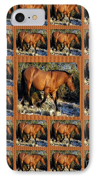 American Wild Horse Mustang On Posters Canvas Pillows Curtains Duvetcovers Phone Cases Tshirts Jerse IPhone Case by Navin Joshi