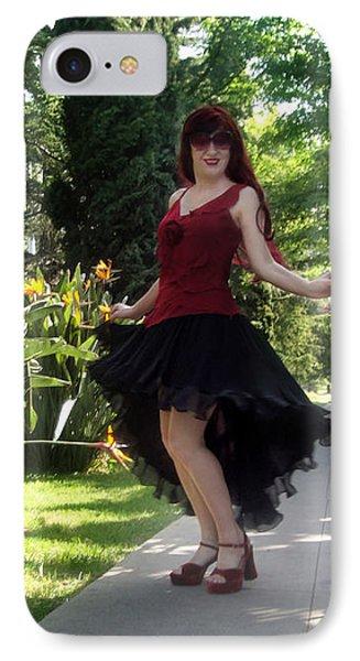 Ameynra Fashion High-low Circle Skirt. Model Sofia Goldberg IPhone Case by Sofia Metal Queen