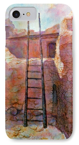 IPhone Case featuring the painting Ancient Walls by Ann Peck