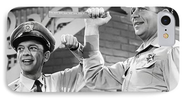 Andy Griffith And Don Knotts - 1970 IPhone Case by Mountain Dreams