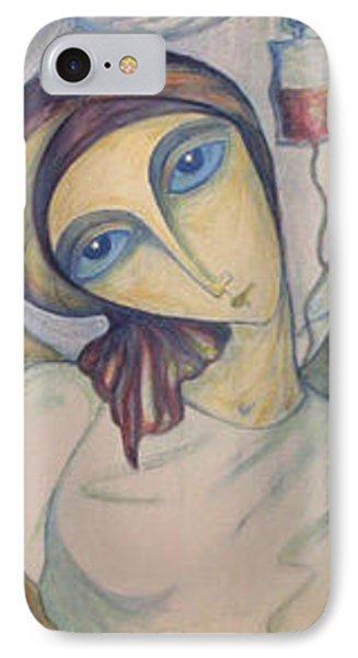 IPhone Case featuring the painting Angel Of Mercy by Rae Chichilnitsky