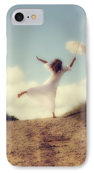 Angel With Parasol Phone Case by Joana Kruse