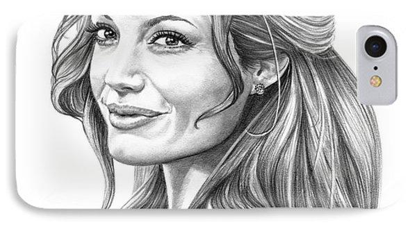 Angelina Jolie Phone Case by Murphy Elliott