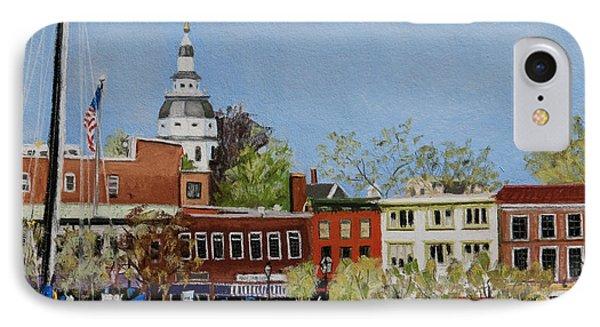 Annapolis Harbor Phone Case by Mary Susan Vaughn