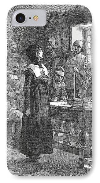 Anne Hutchinson (1591-1643) Phone Case by Granger