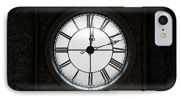 Antique Backlit Clock IPhone Case by Allan Swart