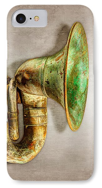 Antique Brass Car Horn IPhone Case by YoPedro