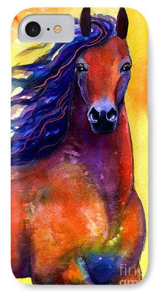 Arabian Horse 1 Painting IPhone Case by Svetlana Novikova