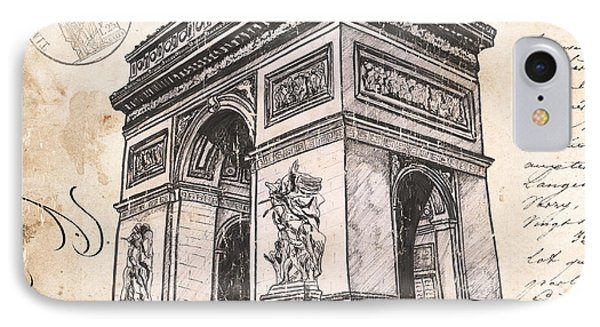 Arc De Triomphe IPhone Case by Debbie DeWitt