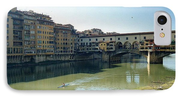 Arno River In Florence Italy IPhone Case by Marna Edwards Flavell