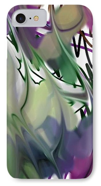 IPhone Case featuring the digital art Art Abstract by Sheila Mcdonald