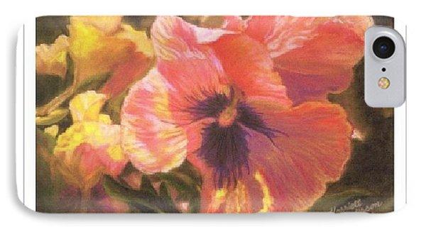Art Card - Caroline's Pansies IPhone Case