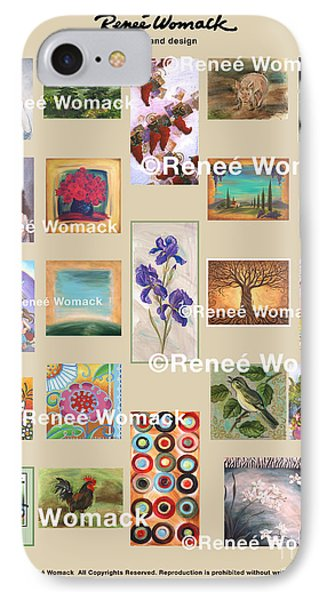 IPhone Case featuring the painting Art Collection by Renee Womack