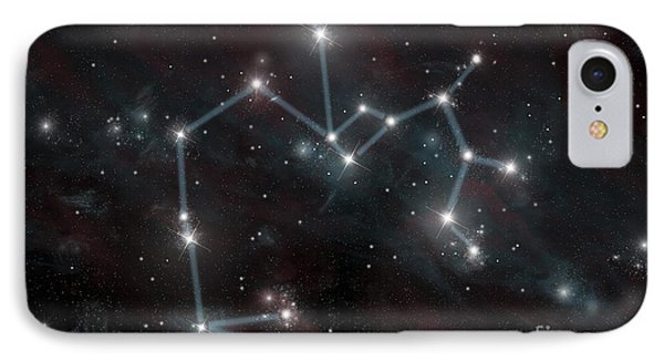 Artists Depiction Of The Constellation IPhone Case by Marc Ward