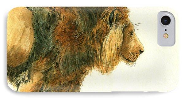 Asiatic Lion IPhone Case by Juan Bosco