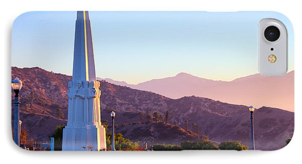 Astronomers Monument In Griffith Park IPhone Case by Celso Diniz