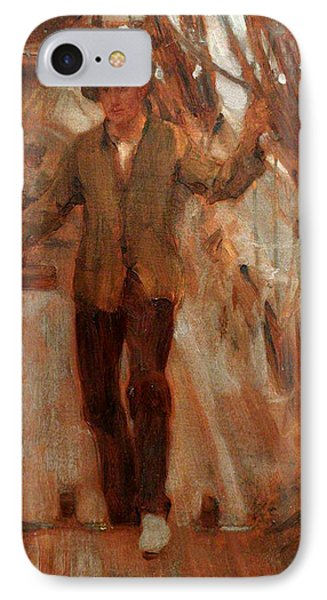 IPhone Case featuring the painting At The Break Of The Poop  by Henry Scott Tuke