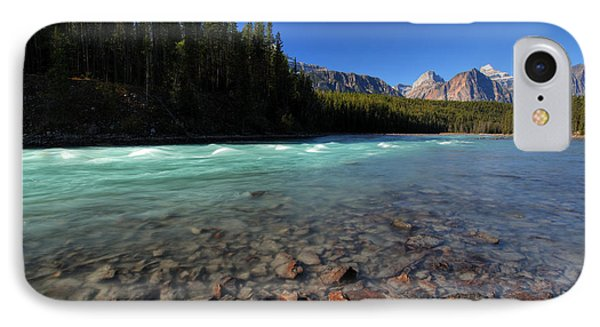 Athabasca River In Jasper National Park Phone Case by Mark Duffy