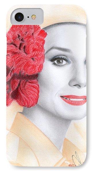 Audrey Hepburn IPhone Case by Eliza Lo