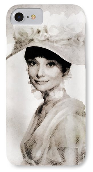 Audrey Hepburn, Vintage Hollywood Legend IPhone Case