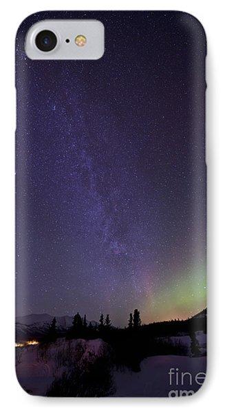 Aurora Borealis And Milky Way Phone Case by Jonathan Tucker