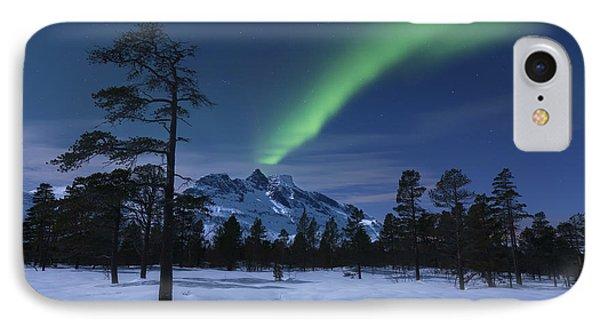 Aurora Borealis Over Nova Mountain IPhone Case