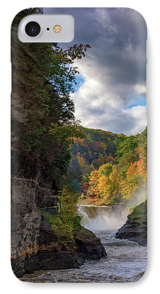 Autumn At The Lower Falls II IPhone Case by Rick Berk