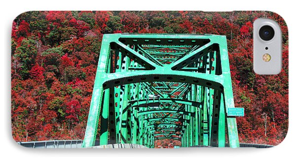 Autumn Bridge IPhone Case by Michael Rucker