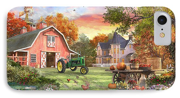 Autumn Farm IPhone Case by Dominic Davison