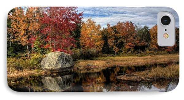 IPhone Case featuring the photograph Autumn In Maine by Greg DeBeck