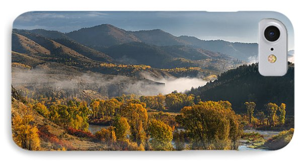 Autumn Light Along The Snake River IPhone Case by Leland D Howard