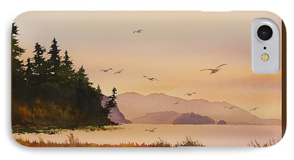 IPhone Case featuring the painting Autumn Shore by James Williamson