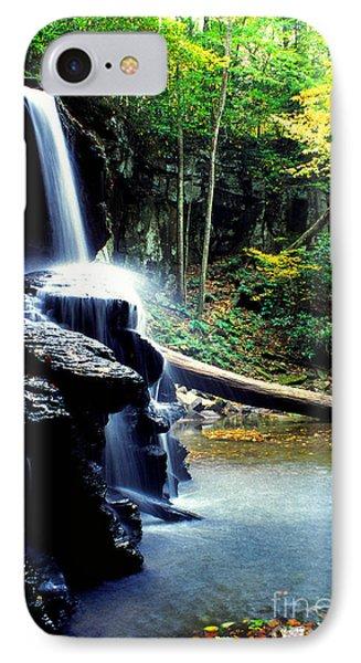 Autumn Upper Falls Holly River Phone Case by Thomas R Fletcher