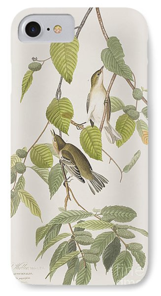 Autumnal Warbler IPhone Case by John James Audubon