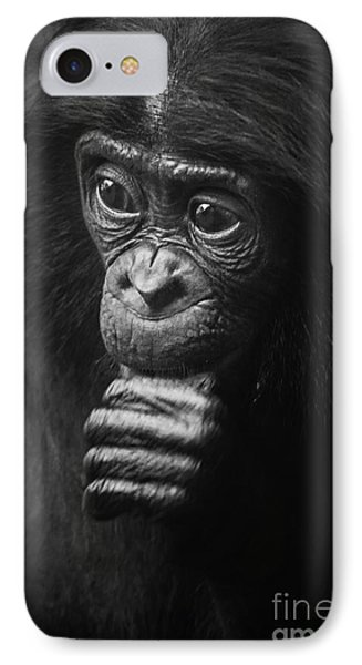 IPhone Case featuring the photograph Baby Bonobo Portrait by Helga Koehrer-Wagner