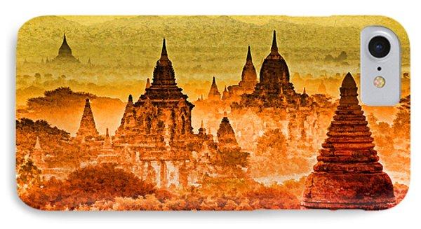 Bagan Pagodas Phone Case by Dennis Cox WorldViews