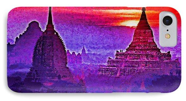 Bagan Sunrise Phone Case by Dennis Cox WorldViews