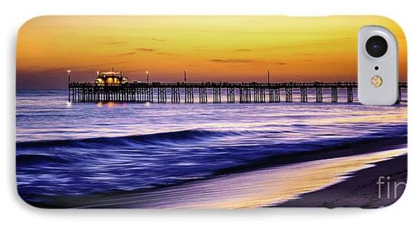 Balboa Pier At Sunset In Newport Beach California IPhone Case by Paul Velgos