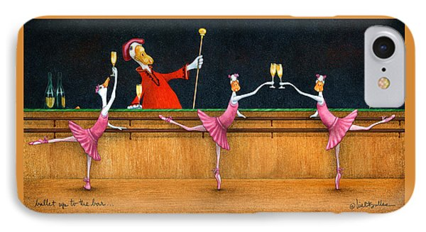 IPhone Case featuring the painting Ballet Up To The Barre... by Will Bullas
