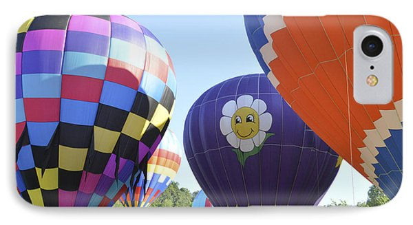 IPhone Case featuring the photograph Balloons Waiting For The Weather To Clear by Linda Geiger