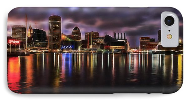 Baltimore Maryland Skyline IPhone Case by Marvin Blaine