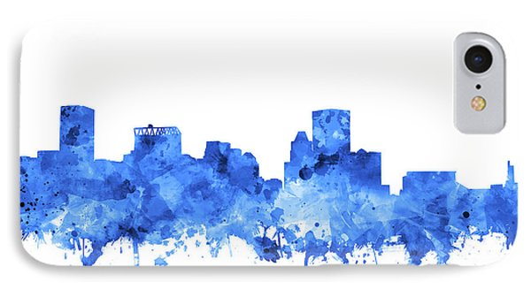 IPhone Case featuring the painting Baltimore Skyline Watercolor 7 by Bekim Art